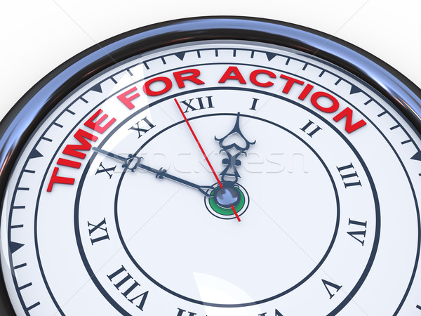 3d clock - time for action Stock photo © ribah