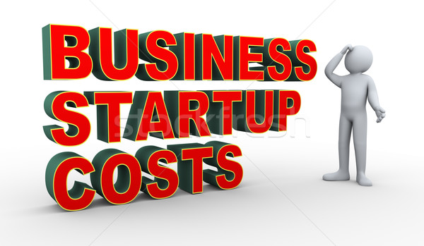 3d man business startup costs confusion Stock photo © ribah