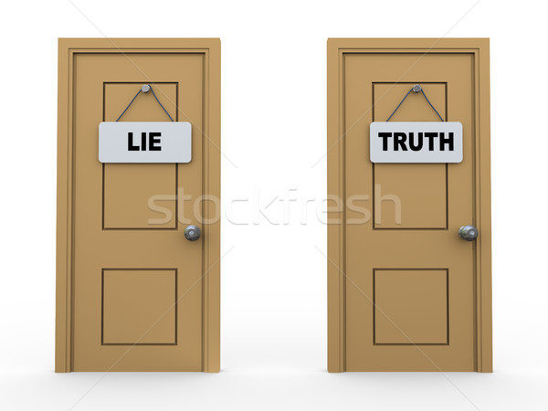 3d truth lie door Stock photo © ribah