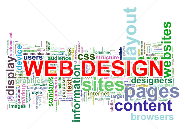 Web design mot illustration internet Photo stock © ribah