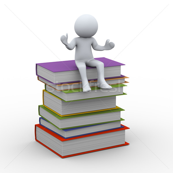 3d person with books Stock photo © ribah