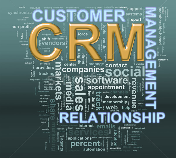crm customer relationship managment wordcloud Stock photo © ribah