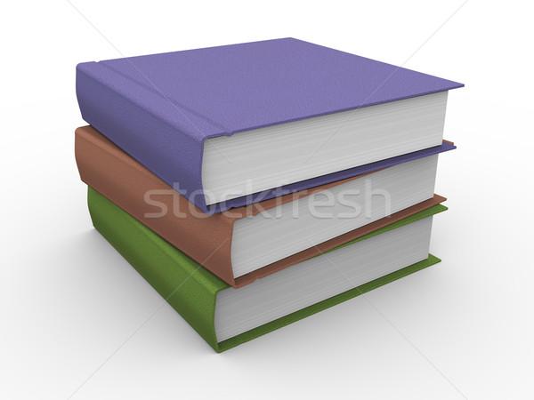 3d books Stock photo © ribah