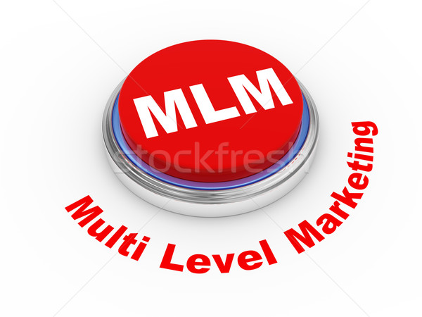 Foto stock: 3D · mlm · botão · ilustração · 3d · nível · marketing
