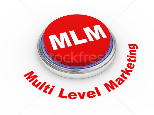 3D mlm knop 3d illustration niveau marketing Stockfoto © ribah