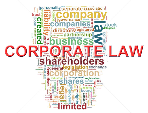 Corporate law word tags Stock photo © ribah