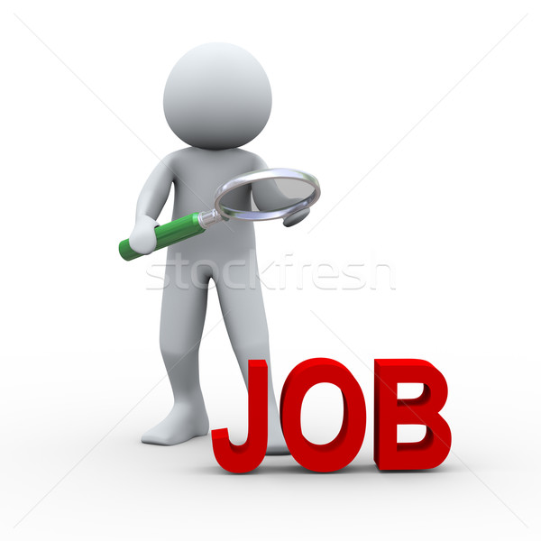 3d person searching for job Stock photo © ribah