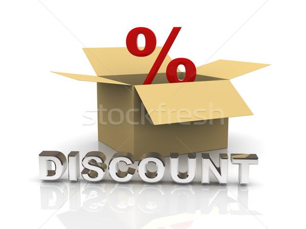 3d discount box Stock photo © ribah