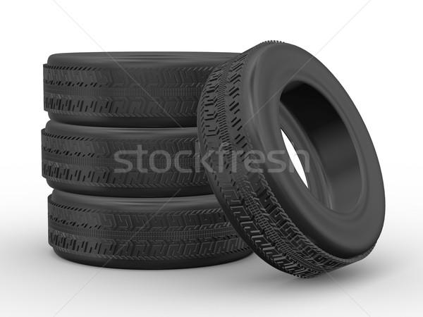3d four tyres Stock photo © ribah