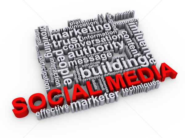 Social media wordcloud Stock photo © ribah