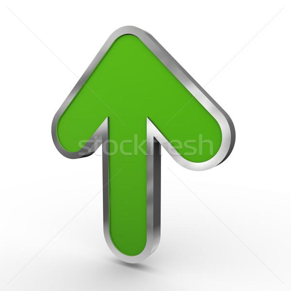 3d green up arrow Stock photo © ribah