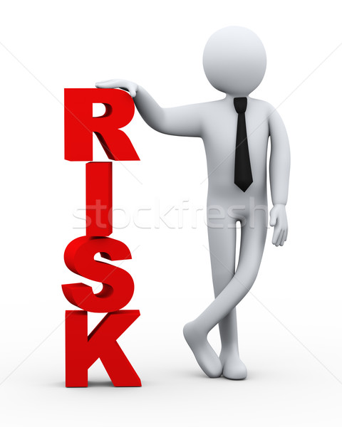 3d businessman risk word presentation Stock photo © ribah