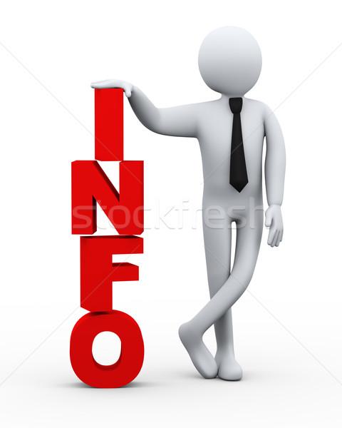 3D empresário informações palavra apresentação ilustração 3d Foto stock © ribah