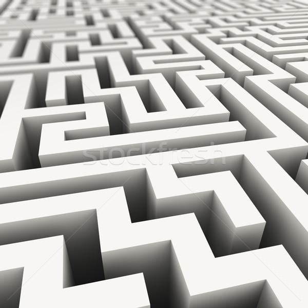 3D エンドレス 迷路 3次元の図 複雑な デザイン ストックフォト © ribah