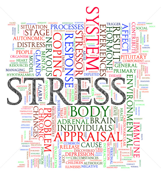 Stress illustratie woord internet Stockfoto © ribah