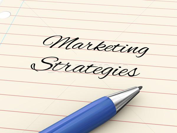 3d pen on paper - marketing strategies Stock photo © ribah