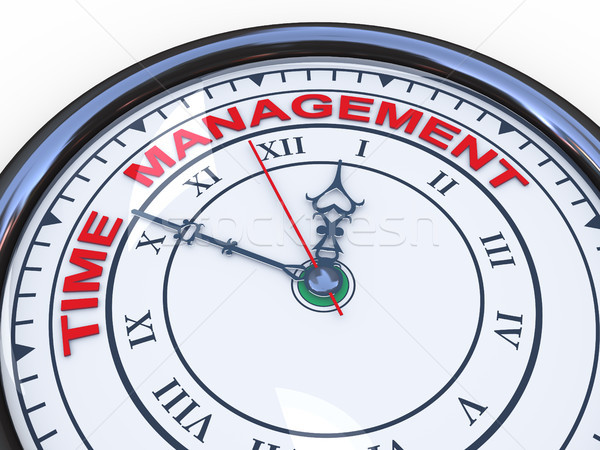 3d time management clock Stock photo © ribah