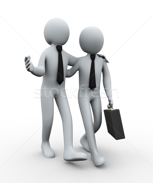 3d business partner Stock photo © ribah