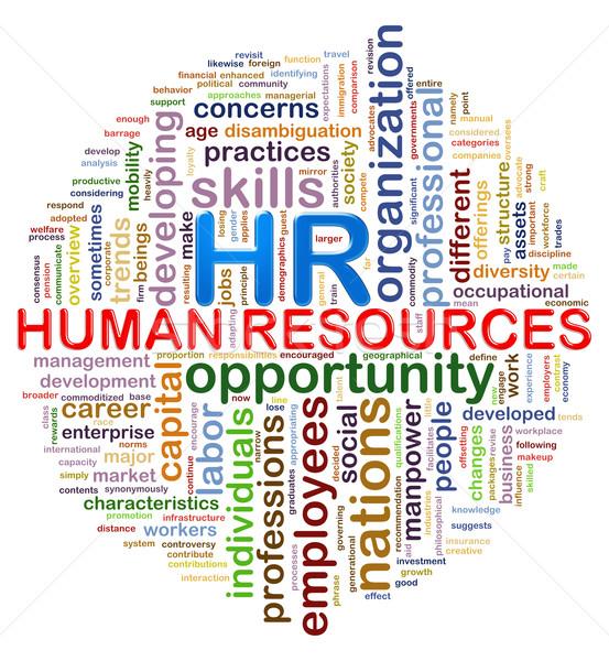 Circular design hr Human resources word tags wordcloud Stock photo © ribah