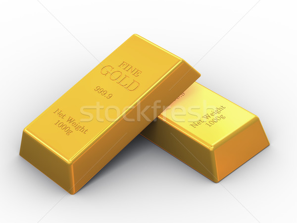 3d two fine gold bars Stock photo © ribah