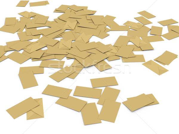 3D kitle 3d illustration Internet posta mektup Stok fotoğraf © ribah