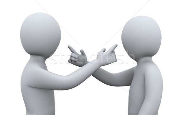 3d people having argument Stock photo © ribah