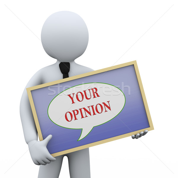 3d man opinion bord 3d illustration affaires Photo stock © ribah