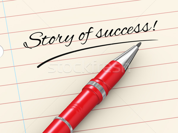 3d pen on paper - story of success Stock photo © ribah