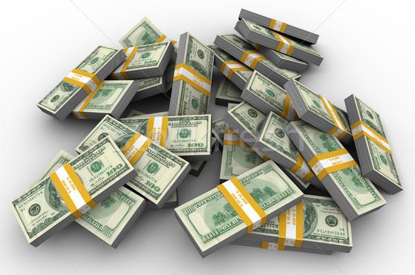 Heap of dollar bills Stock photo © ribah
