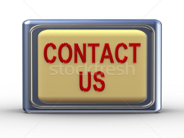 Contact us button Stock photo © ribah