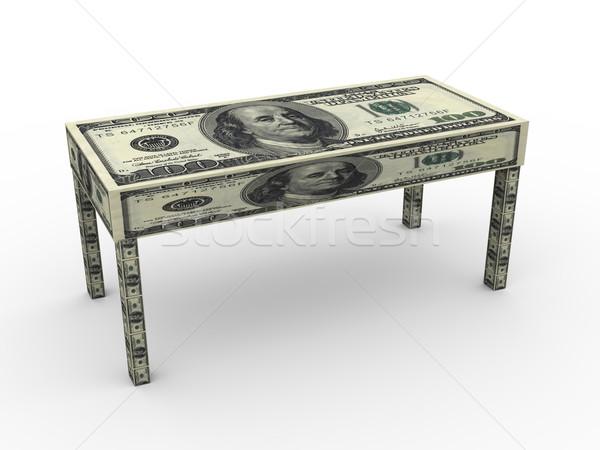 3d dollar table Stock photo © ribah