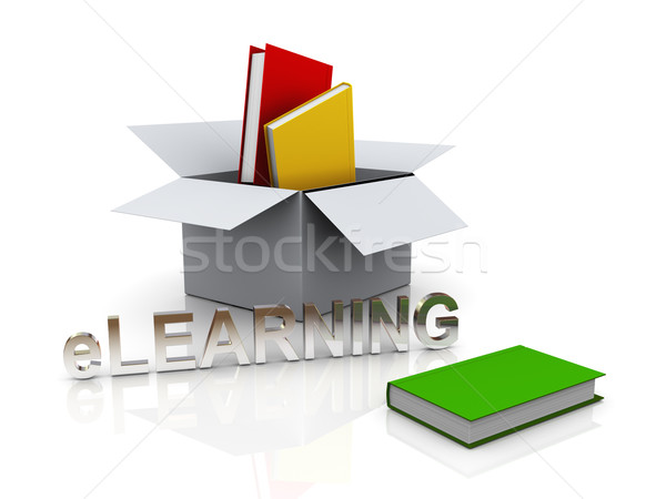 3d open box and books Stock photo © ribah