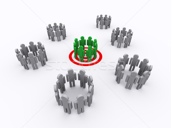 People group target Stock photo © ribah