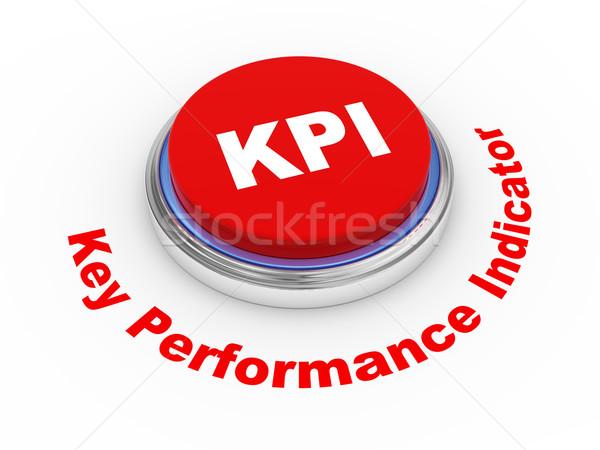 3d KPI button Stock photo © ribah