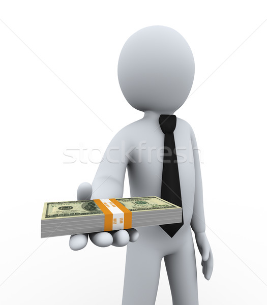 3d businessman offering money Stock photo © ribah