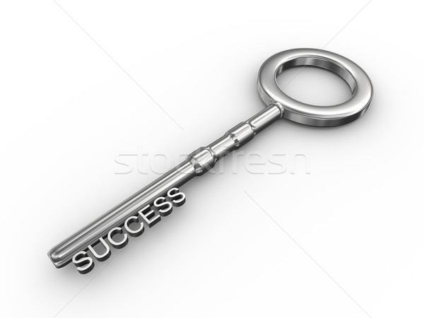 3d key - success Stock photo © ribah
