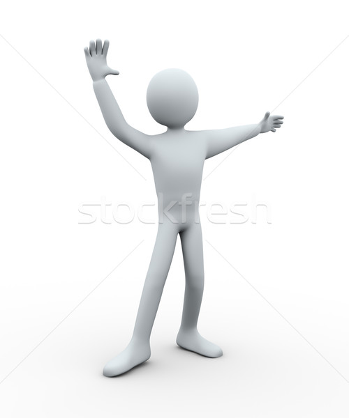 Foto stock: O · homem · 3d · balé · dançar · pose · ilustração · 3d · pessoa
