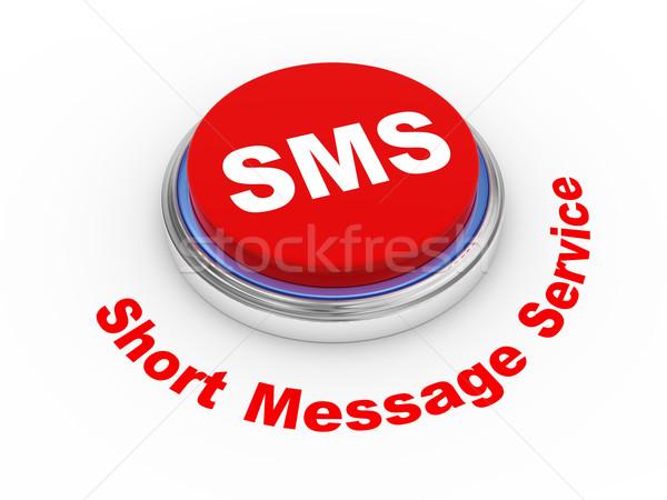 3D sms gomb 3d illusztráció rövid üzenet Stock fotó © ribah