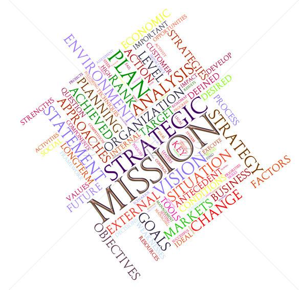 Missie illustratie woord business Stockfoto © ribah