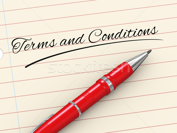 3d pen on paper - terms and conditions Stock photo © ribah