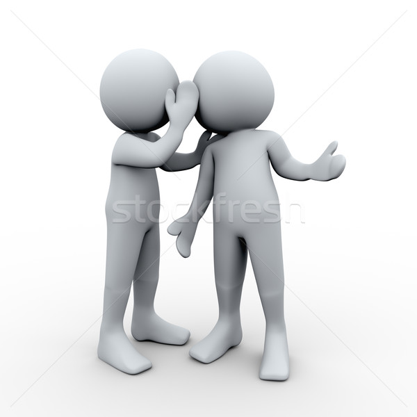 3d person secret whispering Stock photo © ribah