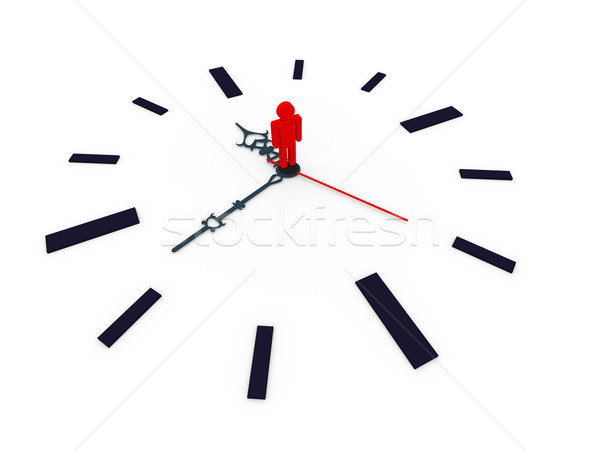 3d clock Stock photo © ribah