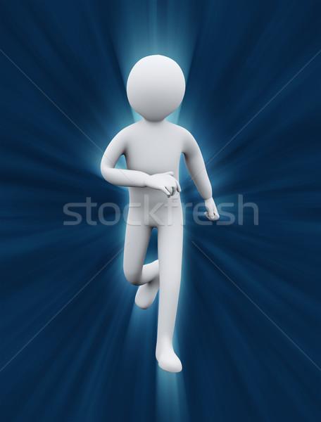 3d healthy man running Stock photo © ribah