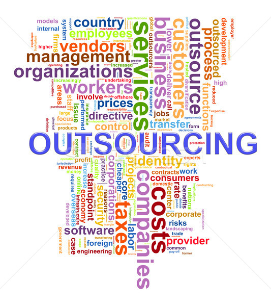 Outsourcing illustratie partij internet Stockfoto © ribah