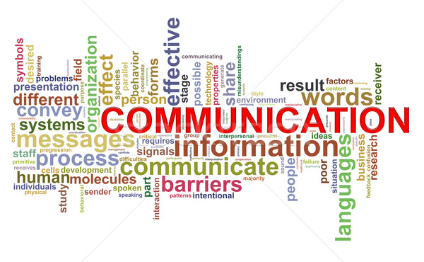 Communication mot illustration internet technologie Photo stock © ribah