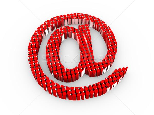 3D email felirat 3d illusztráció internet szimbólum Stock fotó © ribah