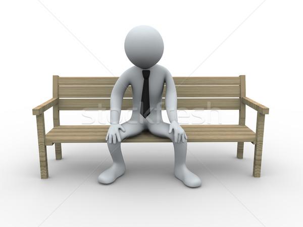 3d frustrated and sad man  Stock photo © ribah