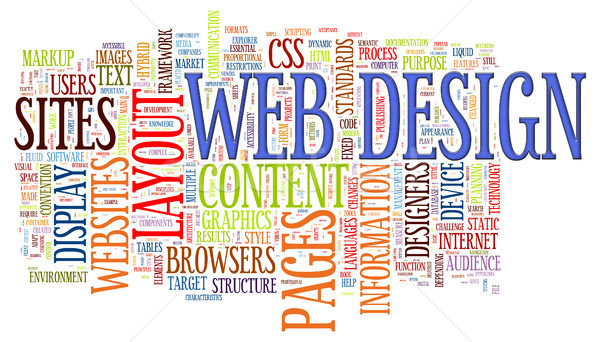 Web design parola illustrazione internet Foto d'archivio © ribah