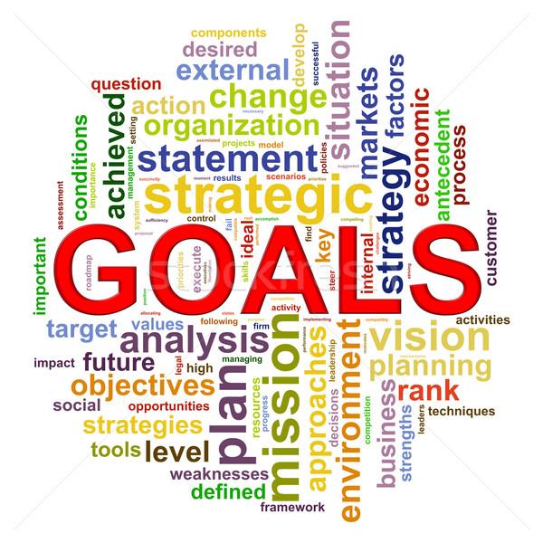 Goals Wordcloud word tags Stock photo © ribah