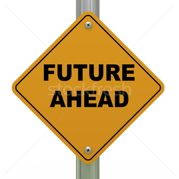 3d future ahead road sign Stock photo © ribah